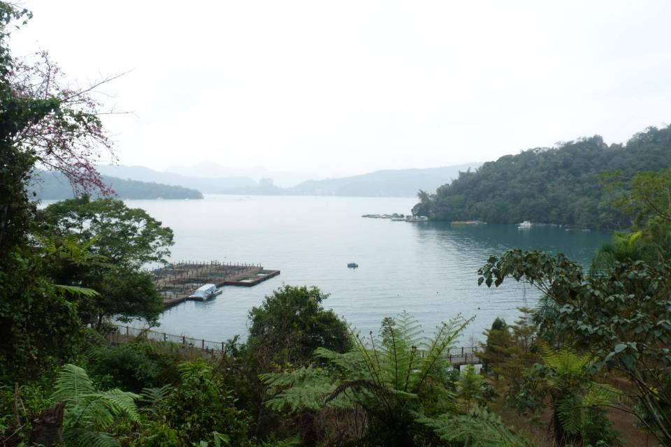 A view of the lake at Sun Moon Lake.