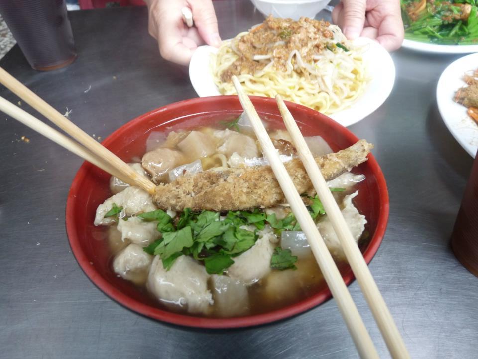 Soup + Fried Fish = YUM