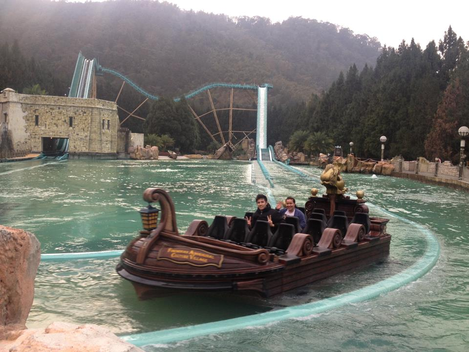 Water ride... we got drenched.