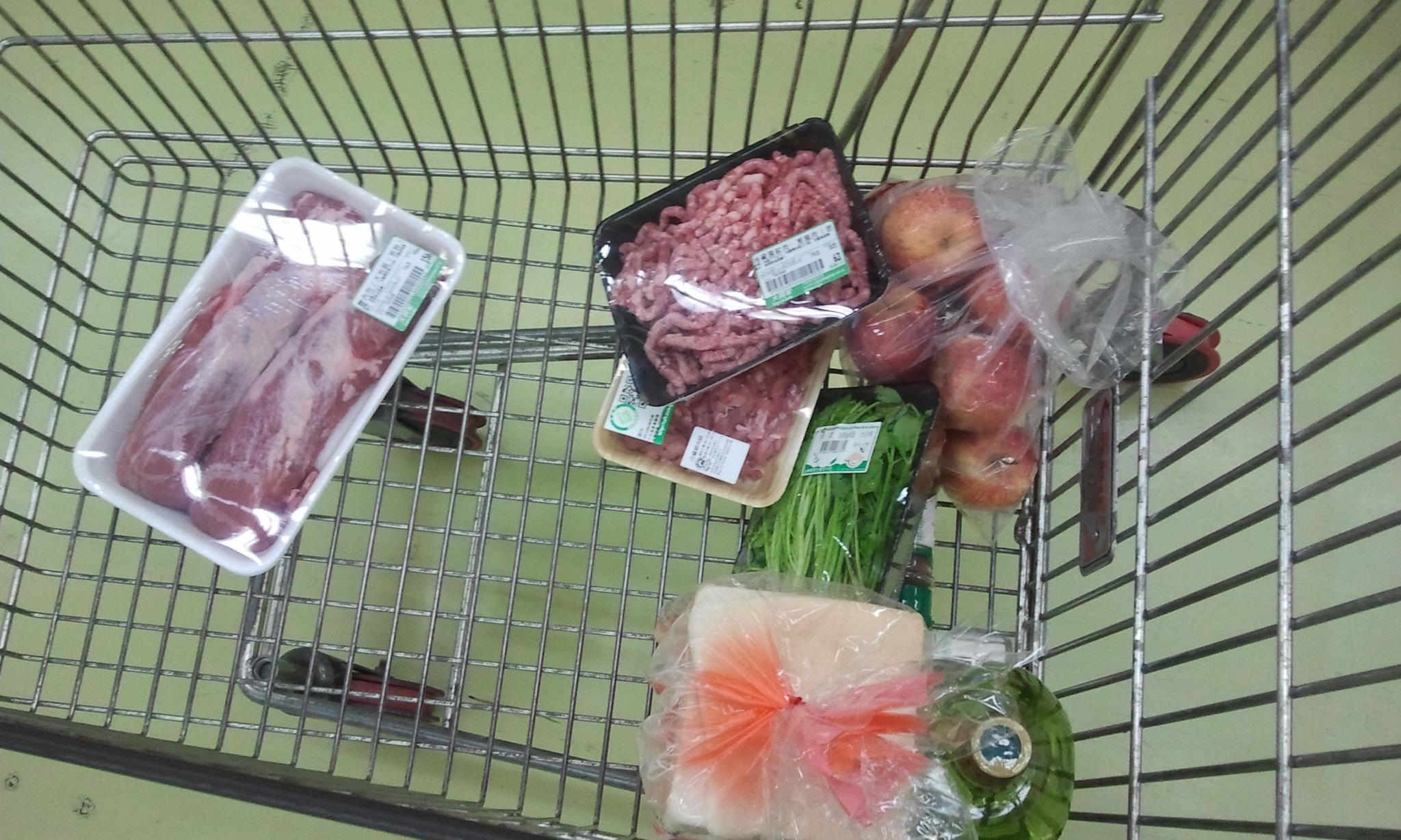 What I bought at the supermarket