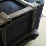 Extent of the damage done on the suitcase.