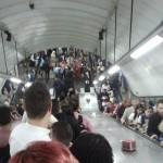 Tottenham Court Road Underground train