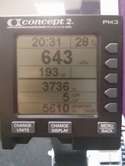 Rowing machine calculations