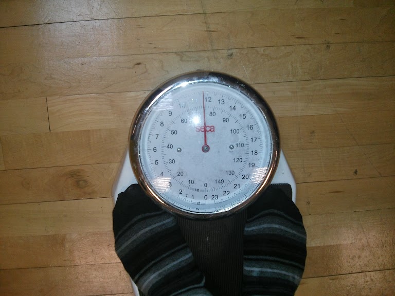 Jonathan's weight on the 22/12/2013