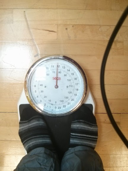 Jonathan's weight on the 01/04/2014