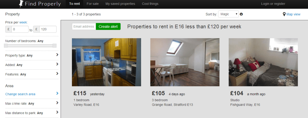 properties to rent for less than £120 per week in London
