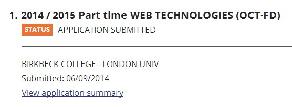Application-BIRKBECK-uni