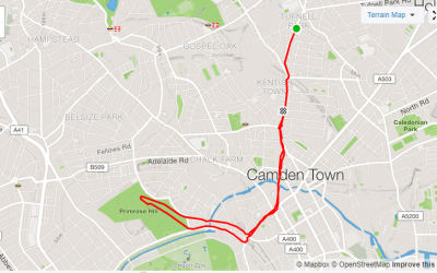 A run through Primrose Hill, Kentish Town & Camden – 6.03km